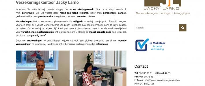 verzekeringen jacky larno